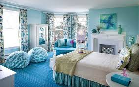 blue kids room decoration ideas round blue chevron bean bag blue polca dot valance bed blue blue themed boy kids bedroom contemporary children