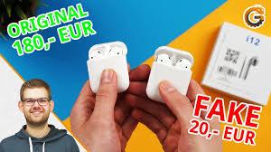 <b>TWS</b> i12: Fake Apple AirPods für <b>20</b>€ / Deutsch - YouTube