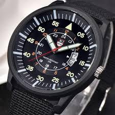 Duoya <b>Military</b> Mens Quartz <b>Army</b> Watch Black Dial <b>Date</b> Luxury ...