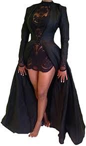xxxiticat Women's Sexy 2Pcs Gothic Lace Sheer ... - Amazon.com