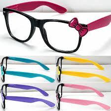 New <b>Womens</b> Clear Lens <b>Frame Eye Glasses Bow Bowknot</b> Hello ...