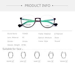 B <b>Pure Titanium Glasses</b> Frame Men Ultralight Vintage Round ...