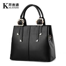 Casual Tote <b>KLY 100</b>% <b>Genuine leather</b> Women handbag 2019 ...
