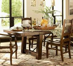 pottery barn style dining table:  table dining room tables pottery barn midcentury medium dining room tables pottery barn intended for