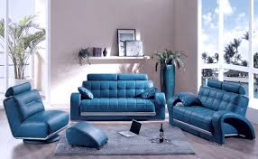 modern blue leather sofa sets designs for living room design blue couch living room ideas