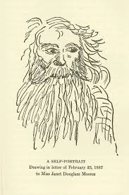 The Significance of Mount Shasta as a Visual Resource  At Sisson     s     College of the Siskiyous Self portrait of John Muir  From  Drawing in letter of February