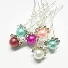 Fashion Crystal Imitation <b>Pearl</b> Wedding Hair Pins Bridal <b>Flower</b> ...