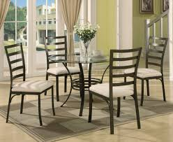Five Piece Dining Room Sets Round Glass Top Metal Base Modern 5 Piece Dining Set Dining Decorate