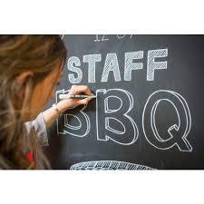 woman using chalkboard paint chalkboard paint office