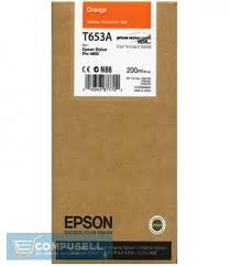 <b>Epson T653A Orange</b> ink Cartridge (<b>200ml</b>) buy, <b>Epson T653A</b> ...