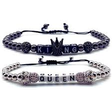 <b>2019</b> New Fashion King Queen <b>Couple Distance</b> Bracelet For Men ...