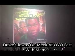 Drake Performs Back to Back with Meek Mill Memes at his Show - YouTube via Relatably.com
