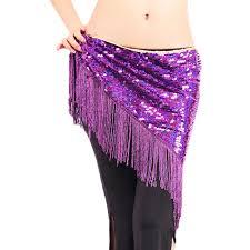<b>12 colors belly</b> dance accessories long tassel belt elastic triangle of ...