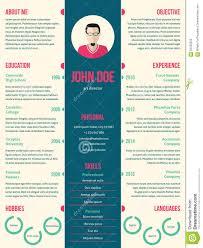 modern resume cv template for employment stock vector image modern resume cv template for employment