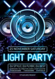 new party season psd flyer templates graphicsfuel flyer light party psd flyer template