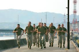 u s department of defense photo essay competitors in the super physical fitness test take off for a three mile run while