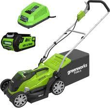 <b>Аккумуляторная газонокосилка Greenworks</b> G40LM35K2 <b>40V</b> ...