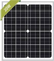 Newpowa 20W Monocrystalline Solar Panel with 3ft+ ... - Amazon.com