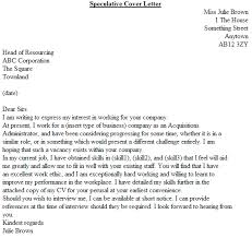 speculative covering letter the perfect cover letter example