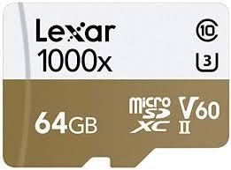<b>Lexar</b> Professional 1000x <b>64GB</b> microSDXC UHS-II <b>Card</b>: Amazon ...