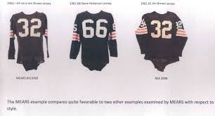 lot detail 1962 63 circa jim brown cleveland browns game worn 1962 63 circa jim brown cleveland browns game worn jersey mears a10 loa