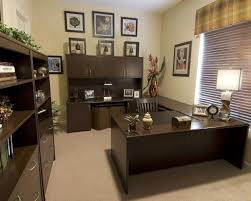 furniture captivating executive office desk and chairs idea having u shape varnished wooden desk blind also chic office ideas furniture dazzling executive office