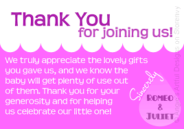 sample thank you note for baby gifts gifts baby shower thank you cards ideas invitations templates