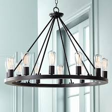 this would be perfect for updated rustic stylenice over a dining table amelie distressed chandelier perfect lighting