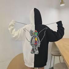 Men Casual <b>Long</b> Sleeve Square Pattern Sweatshirt With <b>Zipper</b> ...