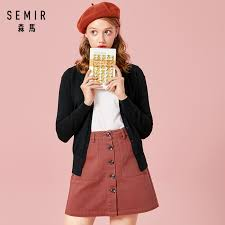 SEMIR <b>Knitted Cardigan sweater Women 2019</b> Spring Simple Solid ...
