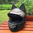 Amazon.co.jp: <b>Cat Ear Angle</b> Full Face Modular Motorcycle Helmet ...