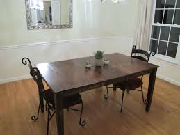 Restaining Kitchen Table Colossal Diy Failor Rustic Dining Room Table Makeover