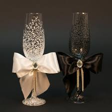 black white wedding glasses from the collection lace g4613 0003 awesome black white