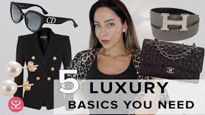 <b>LUXURY</b> BASICS: The Only Five Items You <b>Need</b> To Buy - YouTube