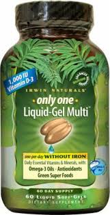Irwin Naturals <b>Only One Liquid-Gel Multi</b> Without Iron