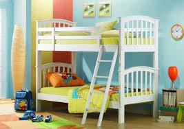 bedroom kid: children bedroom decoration bed impressive kids bedroom design with solid pine wood bunk beds in white