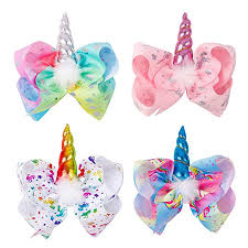 Ncmama 7 Inch Unicorn Hair Bows Girls Boutique ... - Amazon.com