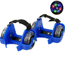 Children <b>Colorful Flashing Roller</b> Pulley Flash Wheels Heel Roller ...