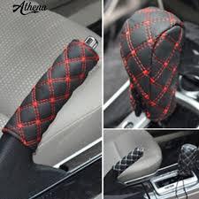 <b>2Pcs</b>/Set Faux Leather Hand Brake <b>Shift</b> Knob Cover Gear Case <b>Car</b> ...