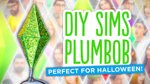DIY Sims <b>Diamond</b>/Plumbob - <b>Easy</b> Halloween Costume! - YouTube