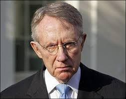 Senate Leader Harry Reid in a happier moment