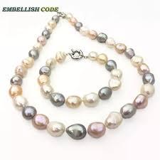 Летнее полубарочное ожерелье, <b>браслет</b> с <b>жемчугом</b>, белый ...