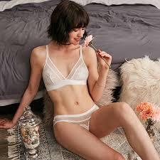 <b>CINOON</b> Ultra thin <b>Lingerie</b> Deep V <b>Bra</b> Brief <b>Set Sexy Underwear</b> ...