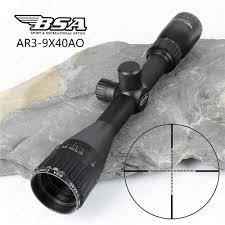 BSA Essential AR <b>3 9x40</b> AO <b>Hunting</b> Optics Riflescopes <b>Mil Dot</b> ...