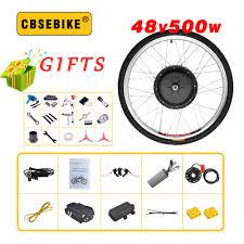 CBSEBIKE <b>48V500W</b> Ebike Kit <b>Electric Bike</b> Conversion EBike ...