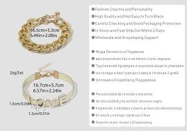 SHIXIN Punk Exaggerated Thick Chain Bracelet Bangle Jewelry ...