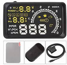 lsqSTAR <b>LED</b> Speed <b>5.5</b>-in Alarm <b>W02</b> Car OBD II HUD Head ...