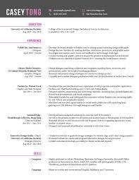 résumé casey tong designer resume for casey tong