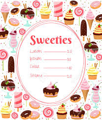 sweets menu or price list template royalty cliparts vectors sweets menu or price list template stock vector 30641175