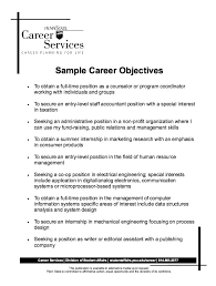sample career objectives resume httpresumesdesigncomsample career job objective resume samples